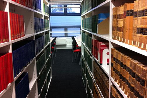 Law library corridor