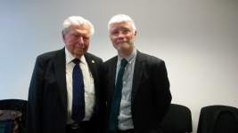 Photograph of Professor Lennart Levi and Professor Stephen Palmer
