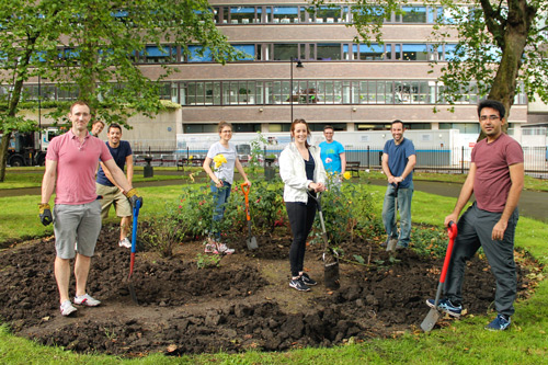 Student volunteers from City, University of London transform Northampton Square gardens