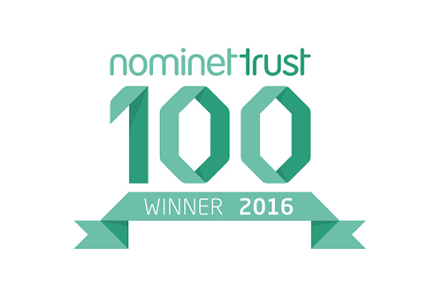 Nominet Trust NT100 winner logo