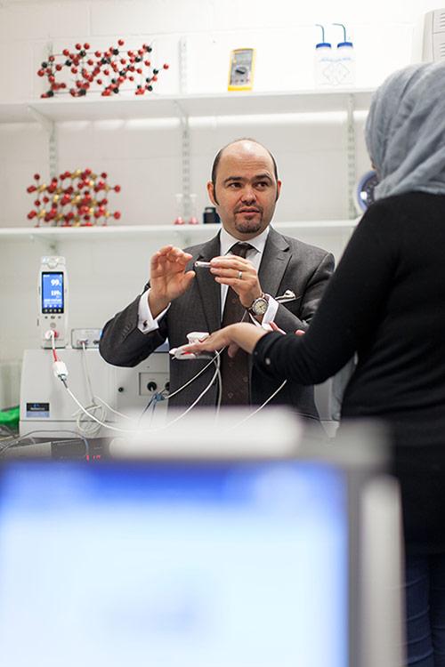 City Professor of Biomedical Engineering Panicos Kyriacou