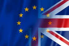 EU/UK flags merged