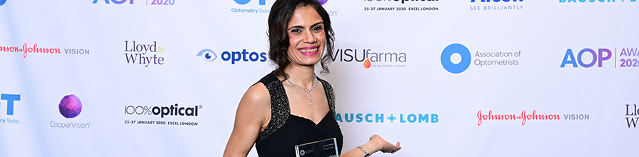 Dr Rakhee Shah wins Lecturer of the Year Award, at AOP Awards 2020