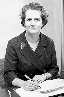 Margaret Thatcher in 1954