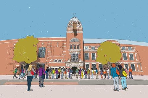 College Building illustration