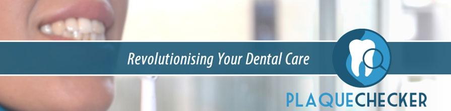 Plaque Checker logo revolutionising your dental care