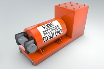 A flight recorder or black box