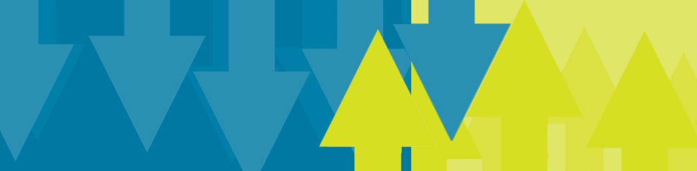 Green and blue arrows for EU Referendum