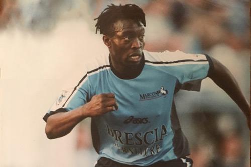 Francis Awaritefe playing football