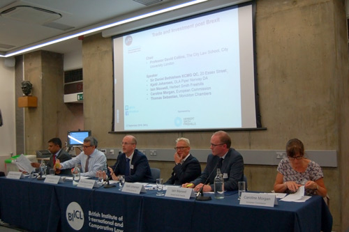 Professor David Collins addresses forum on UK trade issues