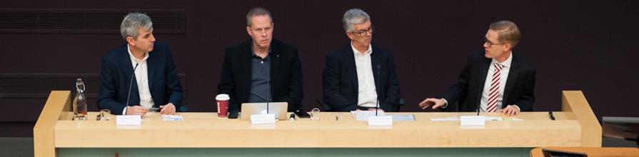 Dr Rasmus Kleis, Professor George Brock, Dr Paul Bernal, Peter Barron