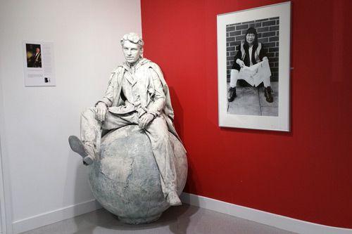 Dr Phebe Mann and Sir Edward Appleton Sculpture