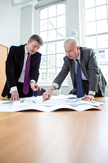 Head of PAF Kevin Gibbons and Vice-President Professor Richard Verrall discuss estate plans