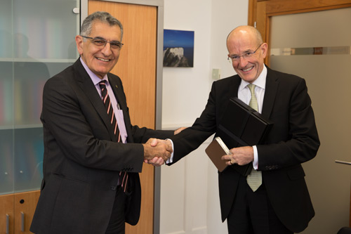 by Rector, Professor Vahan Agopyan met with the President of City Professor Sir Paul Curran