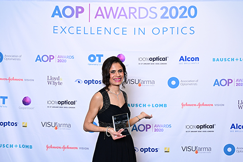 Dr Rakhee Shah wins Lecturer of the year award at AOP Awards 2020