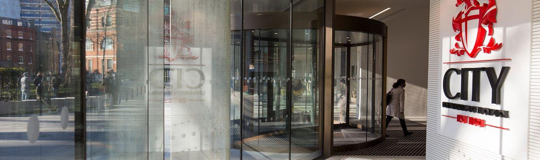 Foyer of university entrance, Northampton Square