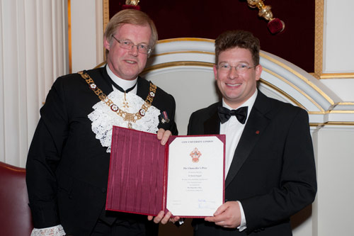 The Lord Mayor and Dr Martin Steggall
