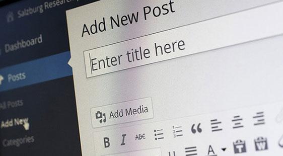 An online blog dashboard