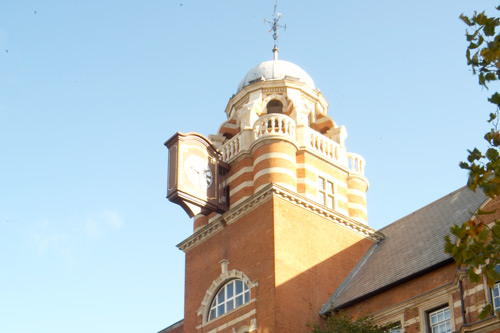 The top bit of the College Building