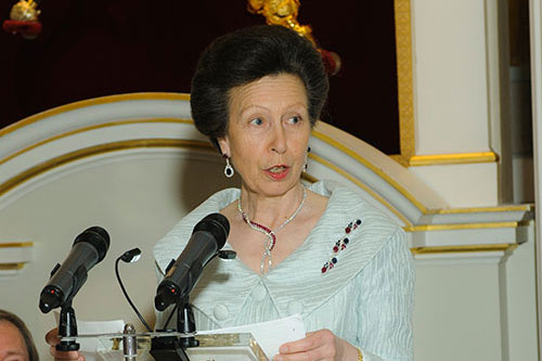 HRH The Princess Royal speaking at the Chancellor's Dinner