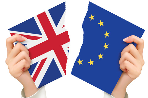 Britain and EU flags torn apart: Panos Koutrakos