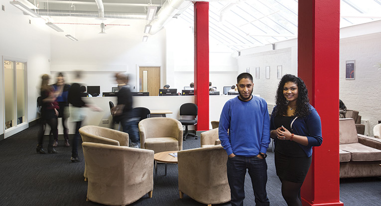 Students in the law common room