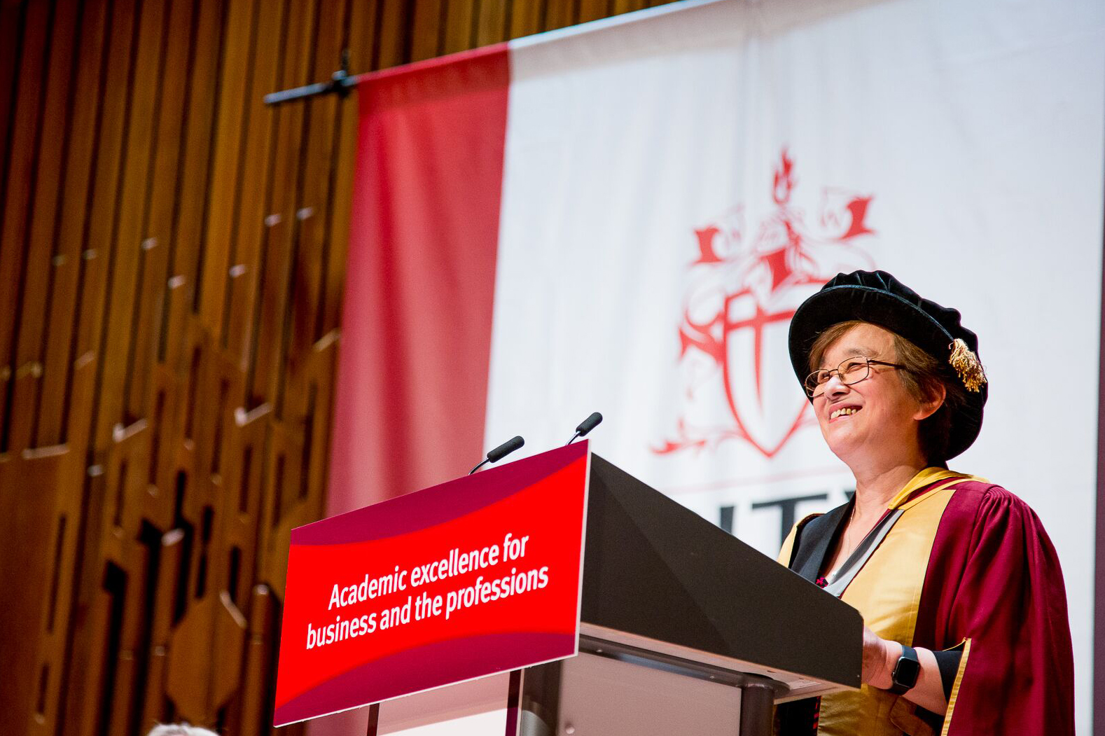 Dame Xiangquian Jane Jiang receives honorary doctorate at City's summer graduation ceremonies