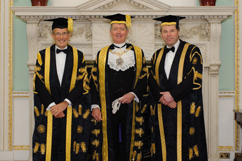 President Sir Paul Curran and guests at the Chancellor's Dinner 2015