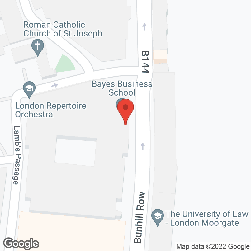 Map showing Bunhill Row