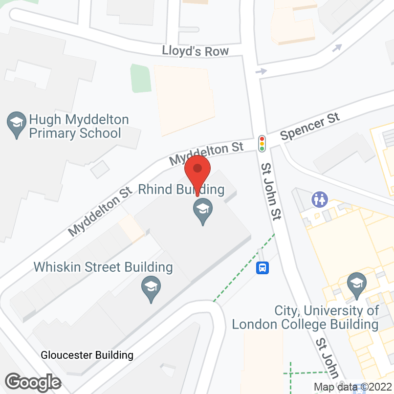 Map showing Rhind Building